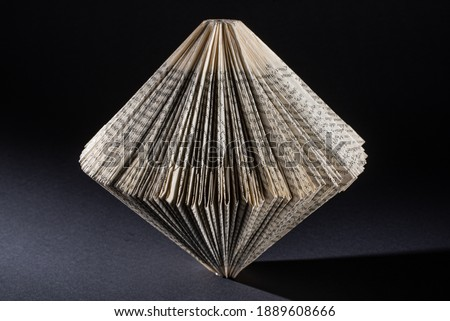 a paper folded old book Photo stock ©