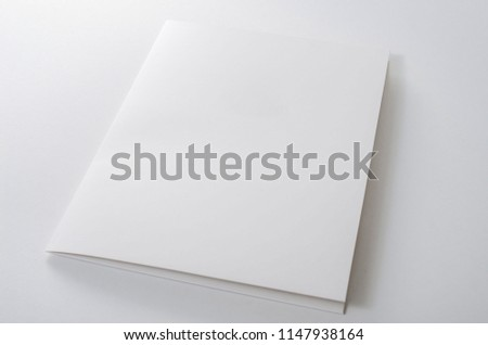 A paper folder on white background #1147938164