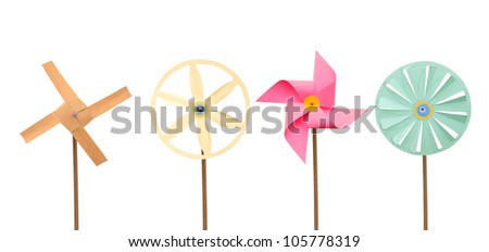A paper game of pinwheels