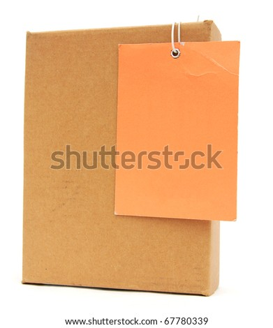 A parcel box with tag