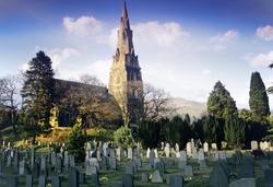 A  parish church - church of england - ambleside englsh lake district cumbria england