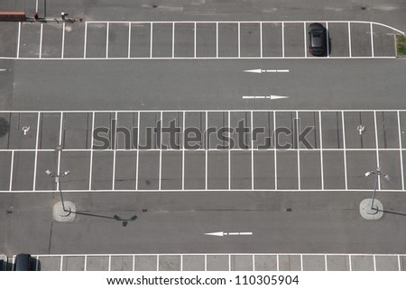 A Parking space from above.