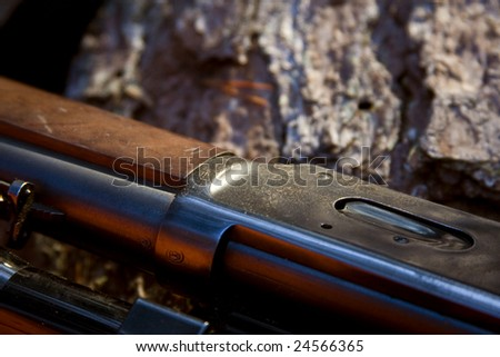 a part of a .30-30 hunting rifle.
