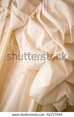 a part of a wedding dress