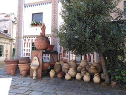 A part of Curti furnace, a historic furnace for terracotta craftsmanship, active in Milan, Lombardy Region, northern Italy