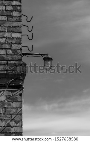 A part of old building with obsolete lantern #1527658580