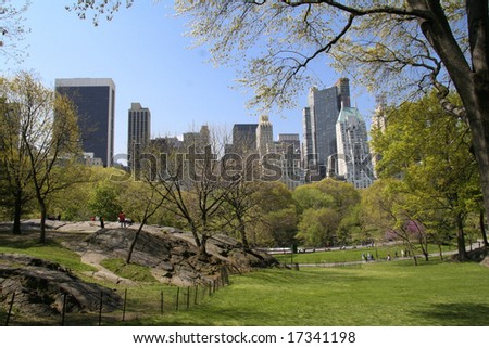 images of central park new york city. of Central Park - New York
