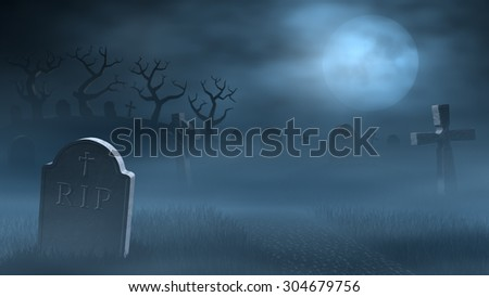 a path between old tombstones...