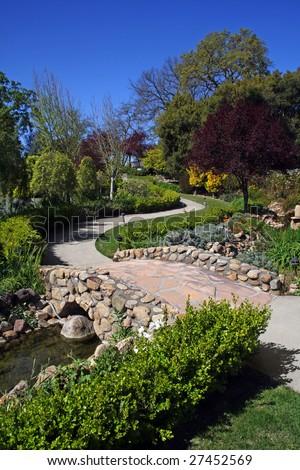 A path in a beautiful garden