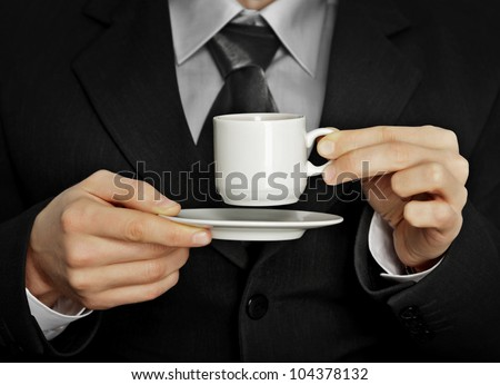 A pause in the work - a cup of coffee