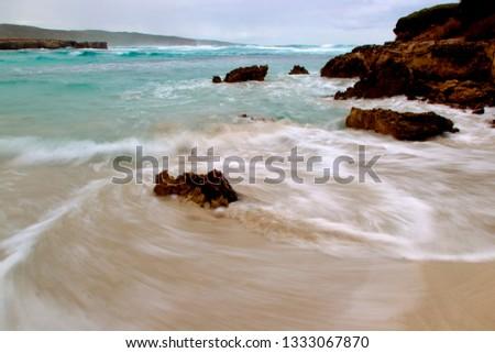 A peaceful beach in Vivone Bay, Kangaroo Island, South Australia, Australia.