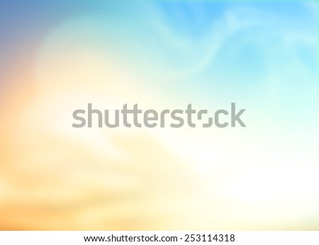 A Peaceful day concept: Abstract sunshine with blurred beautiful nature background #253114318