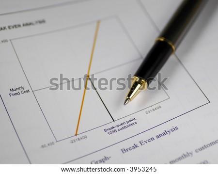 A pen on break-even alalysis