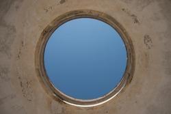 A perfect circle on the top of Villa Pisani Exedra