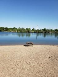 A perfect picnic spot on the beach... Kearney, Nebraska.