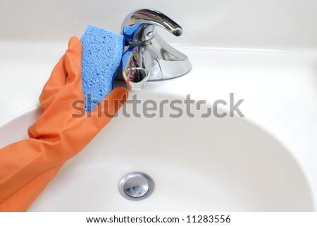 how to clean enjo bathroom glove