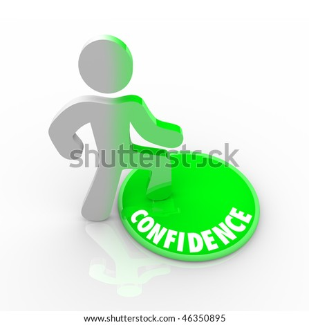 A person steps onto a green button marked Confidence