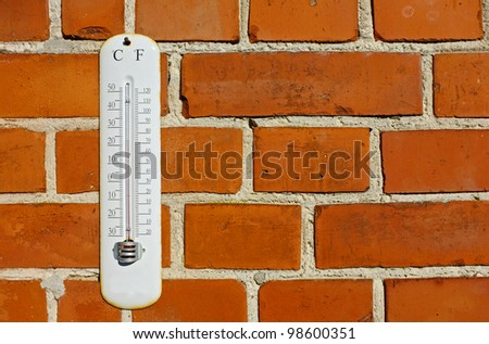 A photo an outdoor thermometer