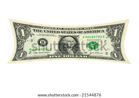 a photo depiction of a dollar being stretched