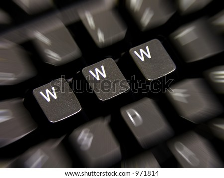 A photo of a keyboard with WWW keys