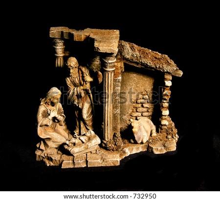 A photo of a nativity scene