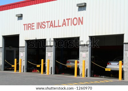 A photo of a tire installation company