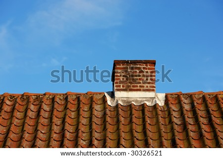 A photo of a typical chimney on a private house