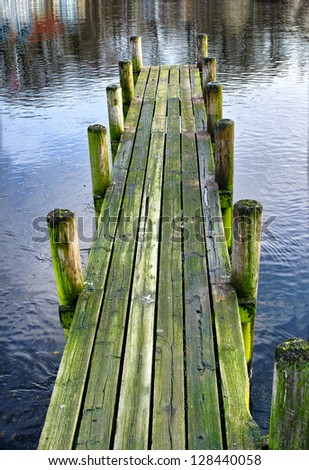 A photo of a wooden jetty