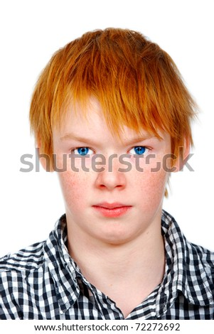 A photo of a young teenager boy - stock photo