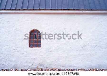 A photo of an old window in an old farmhouse