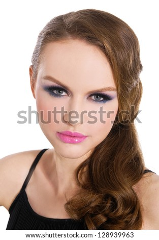A photo of beautiful girl is in style of pinup, glamour