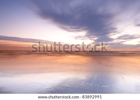 a photo of beautiful sunset at the beach