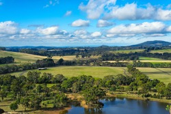 A photo of beautiful view from Hanging rock lookout, Victoria, Australia.