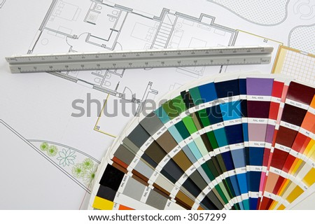 a photo of blue prints home Plans