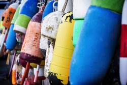 a photo of Buoys in Southwest Harbor Maine