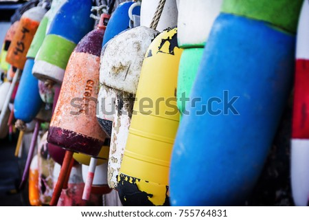 a photo of Buoys in Southwest Harbor Maine #755764831
