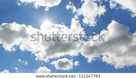 A photo of clouds and blue sky
