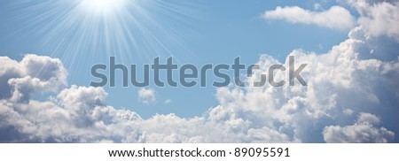 A  photo of Clouds, blue sky and sun