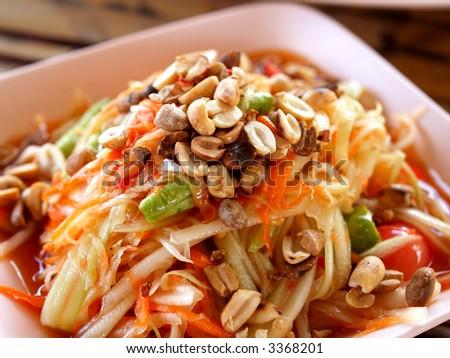 a  photo  of  delicious   thai food - stock photo