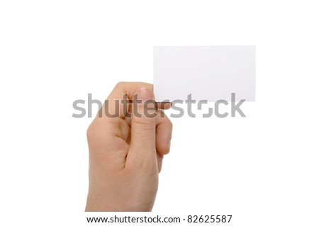 a photo of hand holding business card