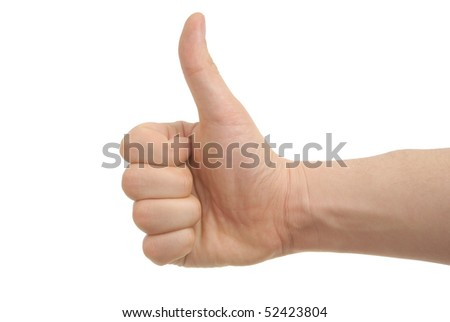 a photo of hand with clipping paths