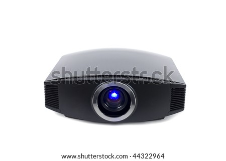 a photo of home cinema projector with space for your text