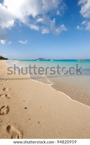 A photo of Lanikei Beach, Oahu, Hawaii, USA