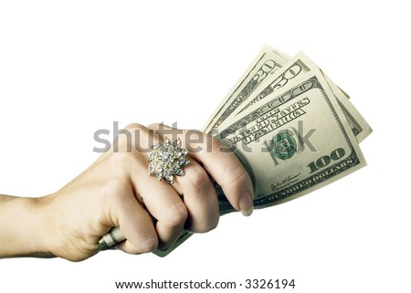 a photo of money in woman's hand 1
