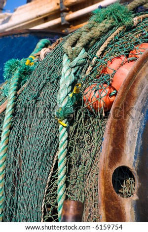 A photo of old colorful fishing gear