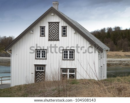 A photo of Old country houses in Norway