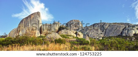 A photo of  Rock formations in Africa