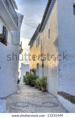 A photo of romantic Spanish village