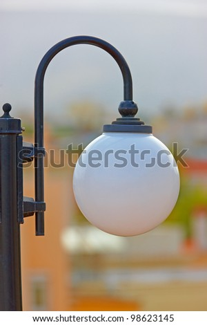 A photo of round white lamps