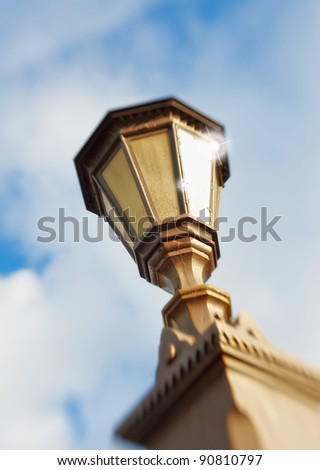 A photo of  Street lamp - lens blurred